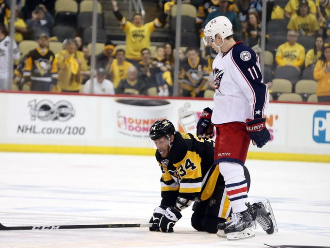 April 15: Columbus Blue Jackets forward Matt Calvert
