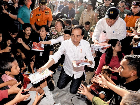 A handout photo made available by Indonesian Presidential