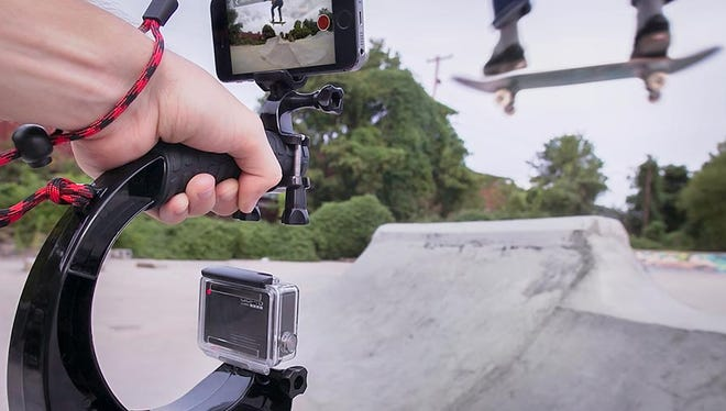 """Ryan Klinger, the Asheville entrepreneur behind GoWorx has been selected to compete in the Kauffman Foundation's """"One in a Million"""" pitch competition next month. Pictured is the company's FreeRide smartphone mount."""