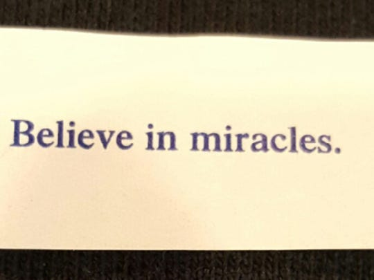Jake Booth's mother, Vera, opened a fortune cookie soon after saying good-bye to him. It said: Believe in miracles.