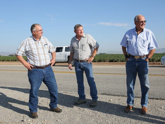Palo Verde Irrigation District officials – from left,