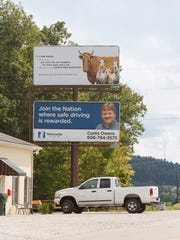 Billboard erected in Kim Davis' hometown of Morehead,