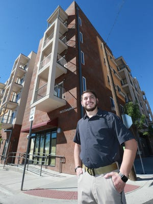 Joe Soto, along with his father, Ed Soto, developed the Campbell Apartments at 501 S. Campbell. The five-story, 87-unit apartment building is expected to open April 1. Most of the apartments are already leased, Soto said.