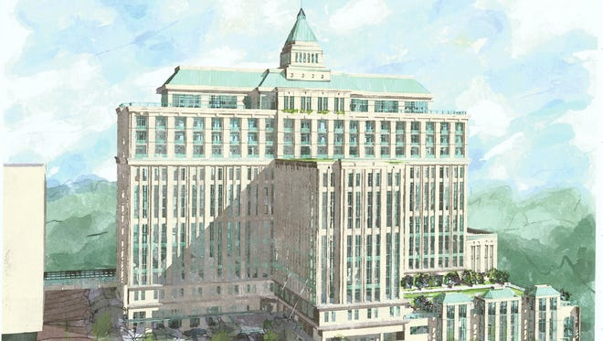 A rendering of the Washington Square development that is being constructed in downtown Tallahassee.