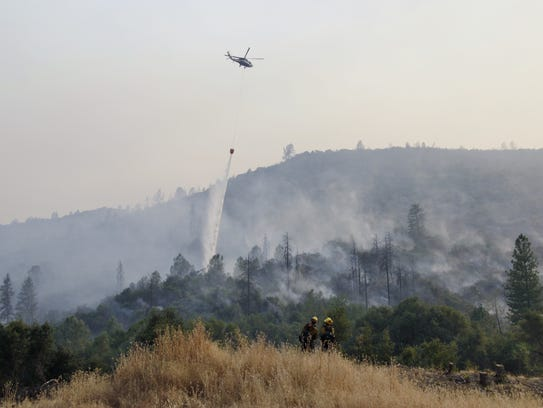 Fighting the Detwiler Fire from the ground and air,