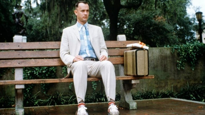 "A Vox writer thinks a Bubba Gump restaurant should come to Savannah. Shown: Tom Hanks in ""Forrest Gump,"" in a scene filmed in Savannah."