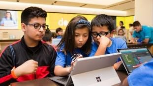 Microsoft Stores announced in November that they were offering Hour of Code workshops.