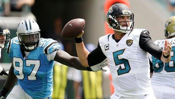 Jacksonville Jaguars quarterback Blake Bortles (5)