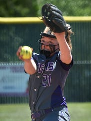 Spanish Springs' Tyra Clary winds up for a pitch against