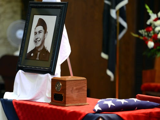 The remains of Staff Sgt. David R. Kittredge of Green Bay pictured, killed in action in WWII, were returned home August 13, 2014.
