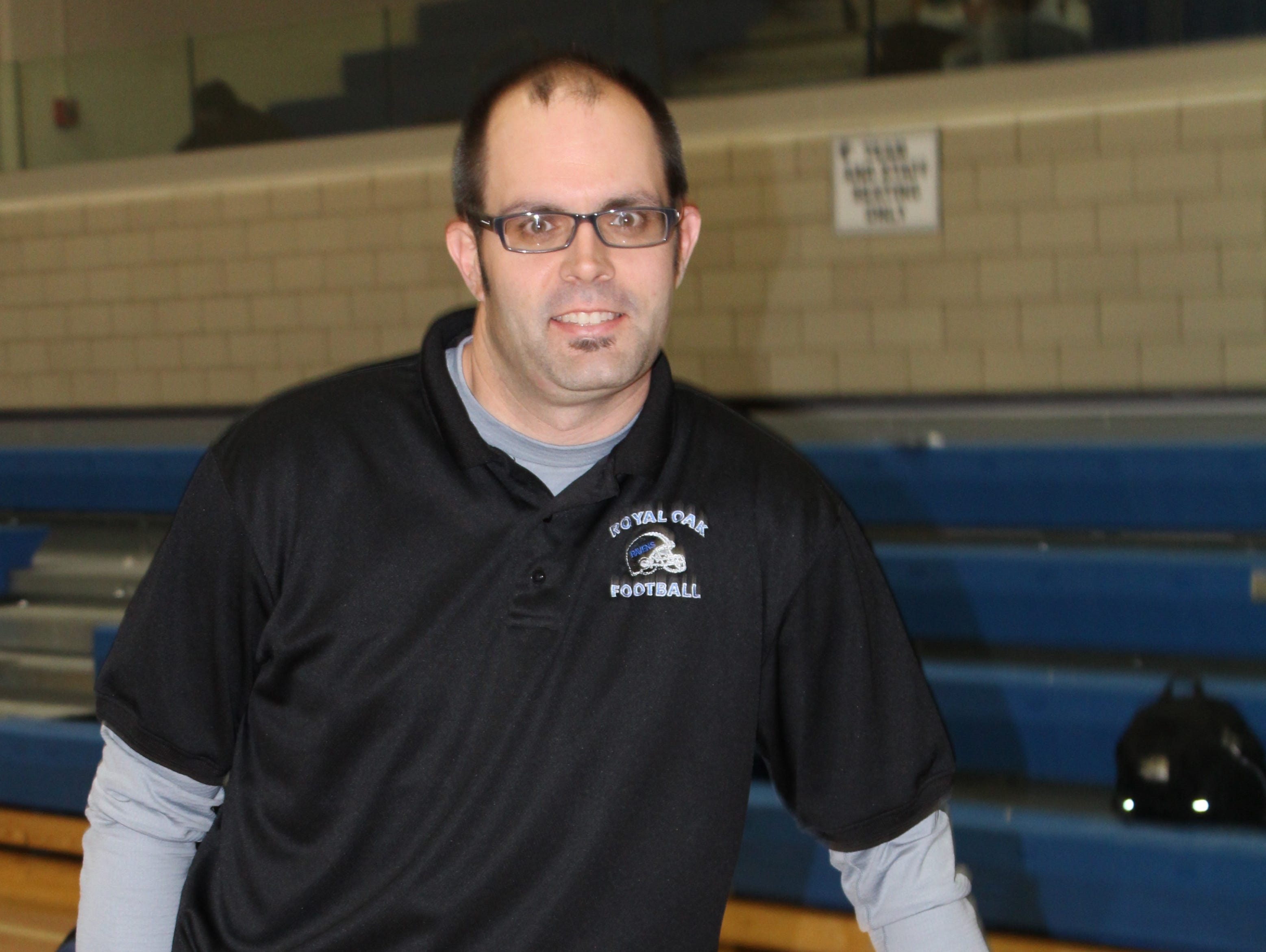 Ray McMann, Royal Oak's new head football coach, has been involved with the Royal Oak district since the 2001 season. He currently teaches at Royal Oak High School.