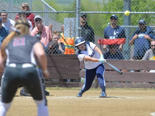 Morgan Sunchild is one of the state's top softball sluggers.