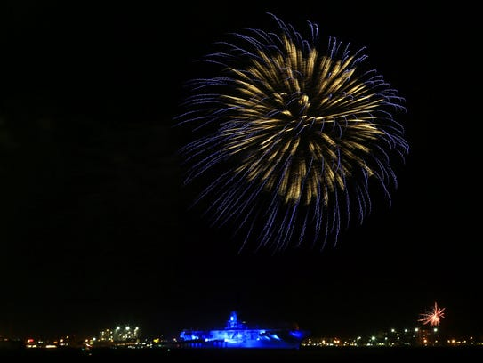 The Mayor's Big Bang Celebration fireworks on Tuesday,