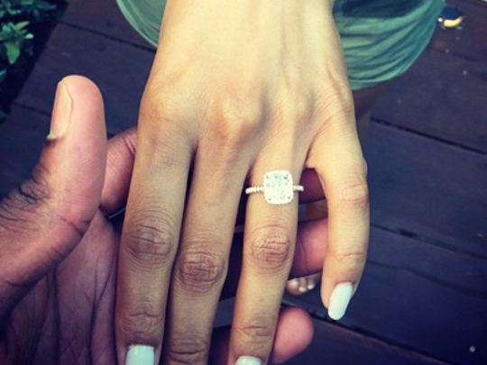 C.J. Miles/Lauren Smith engagement ring.