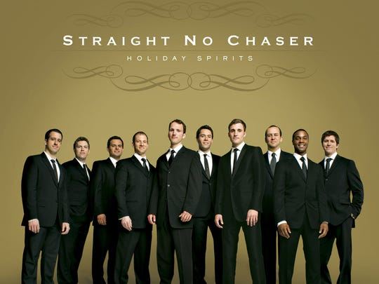 Vocal group Straight No Chaser (cq/dl) (from left, Walter Chase (cq/dl), Ryan Ahlwardt (cq/dl), Dan Ponce (cq/dl), Dave Roberts (cq/dl), Steve Morgan (cq/dl), Michael Itkoff (cq/dl), Mike Luginbill (cq/dl), Randy Stine (cq/dl), Jerome Collins (cq/dl) and Charlie Mechling (cq/dl)) will perform Monday, Dec. 1, 2008, at the Murat Egyptian Room.