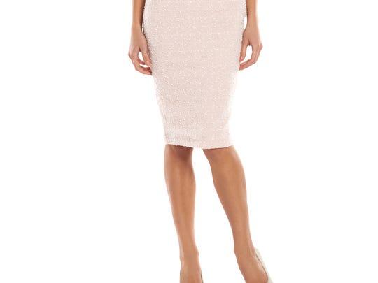 Women's Jennifer Lopez Sequin Midi Pencil Skirt, $50.00.