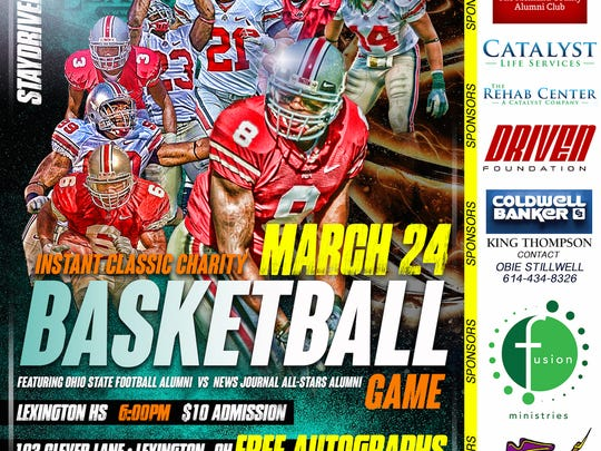 This is the poster former Ohio State football player Roy Hall designed to promote Thursday night's Instant Classic basketball game at Lexington High School.