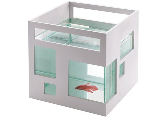 The Umbra FishHotel Aquarium provides five-star accommodations for swank fish.