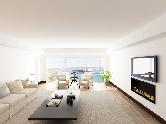 Rendering of the view from inside of a Bluewater View condo