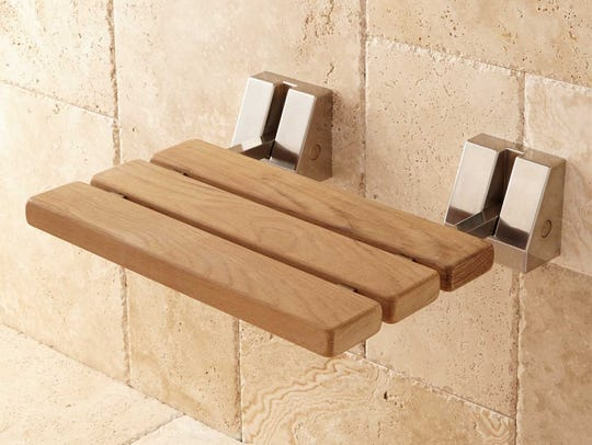 A seat in the shower can make a big difference for