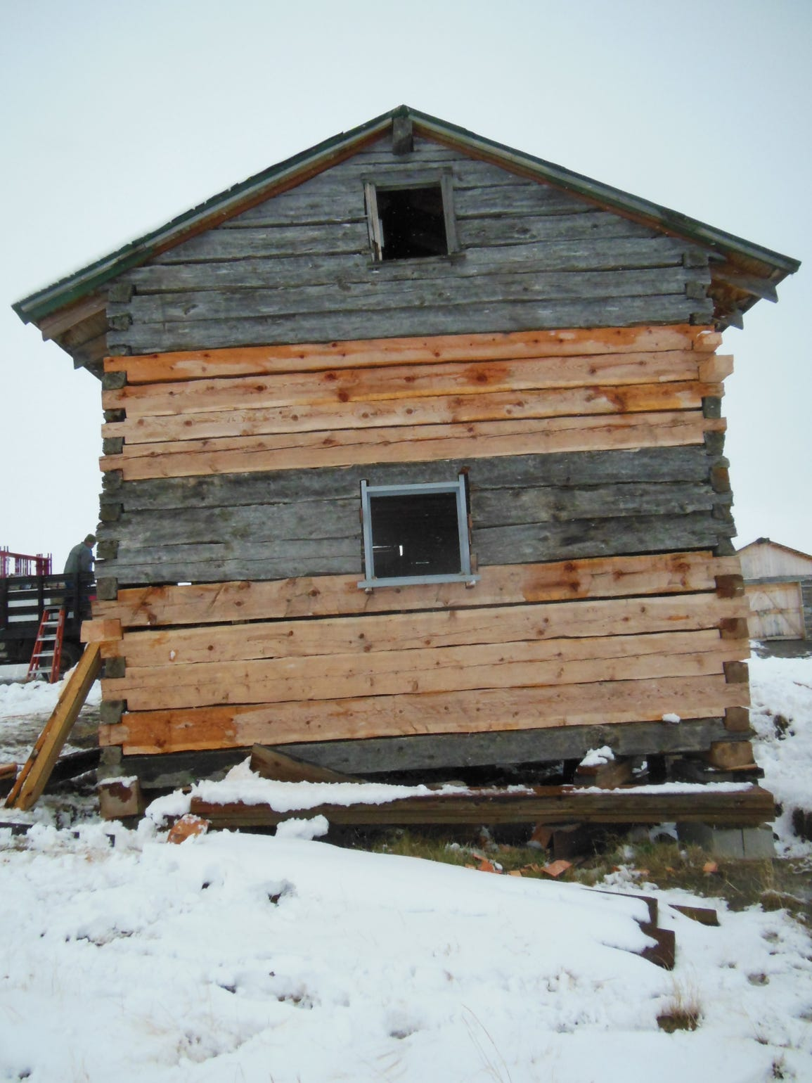 The BLM repaired the Wartzenluft homestead house with
