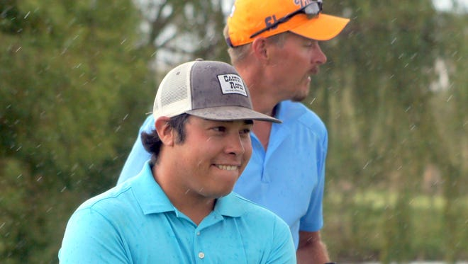 "Deryk ""Buzz"" Perales was all smiles after closing out Joel Stevens on No. 15 of match play to win the 63rd Rio Mimbres Invitational Golf Championship on Sunday, July 17, 2016. This was Perales' second Rio Mimbres title. He won the tournament in 2014."