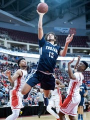 Chambersburg's Tyler Collier and his Trojans face a rematch with Reading, who they played in last year's District 3 championship game, on Tuesday.