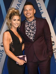 Kane Brown walks the red carpet with Katelyn Jae at the 2017 CMA Awards. The two got married last month.