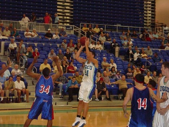 Huge Eagles fan Doug Kollmer was a walk-on forward during FGCU's first two seasons of 2002-03 and 2003-04.