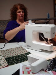 Donna Miller, of Windsor, started the Crazy Quilters group two years ago.