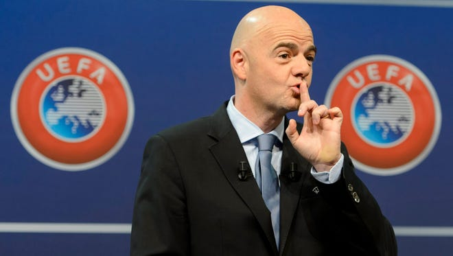 Former UEFA General Secretary Gianni Infantino signed a contract revealed in the Panama Papers.
