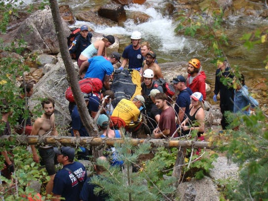 First responders and fellow climbers rescue Thad Ferrell