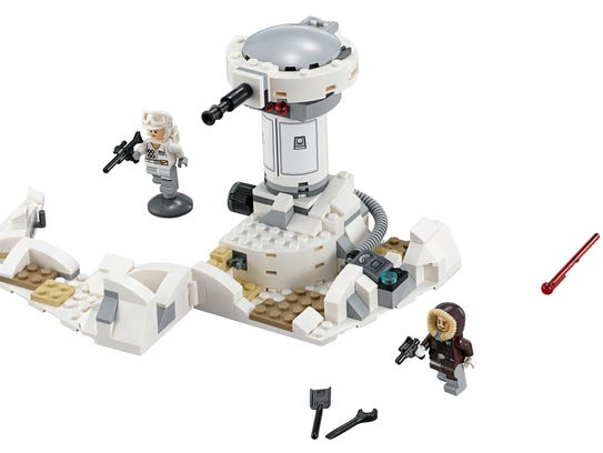 The 233 pieces from the Hoth Attack Lego set 233 pieces