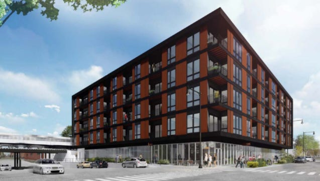 The Quin, a five-story, 68-unit apartment building, is planned for the northeast corner of S. 2nd and W. Florida streets.