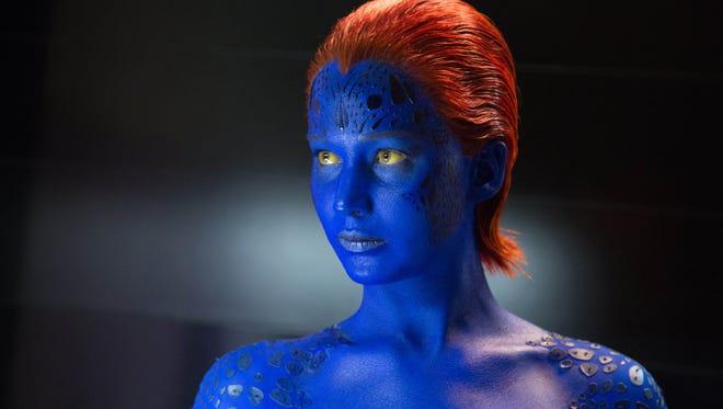 "Jennifer Lawrence in ""X-Men: Days of Future Past."""