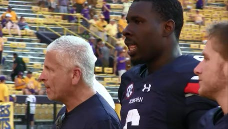 Auburn quarterback Jeremy Johnson continues to struggle as he threw for just 100 yards in Saturday's 45-21 loss Saturday at LSU