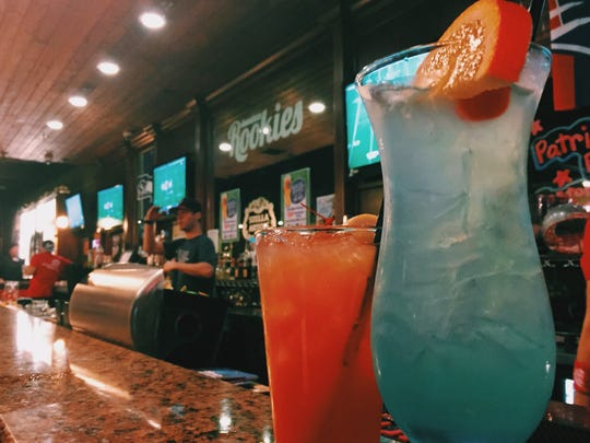 Downtown Rookies in Visalia gave Super Bowl fans a choice between two drinks: the Patriot Punch and the Seattle Swarmer.