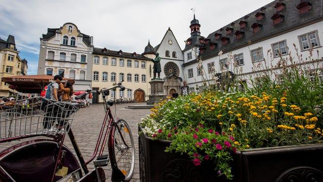 The old inner city of Koblenz.