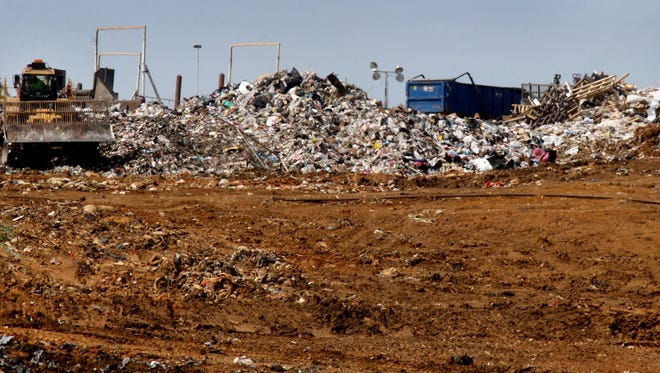 Trash is being handled at the Middle Point Landfill in Rutherford County on March 30, 2016. The landfill is expected to reach capacity in eight years or less.
