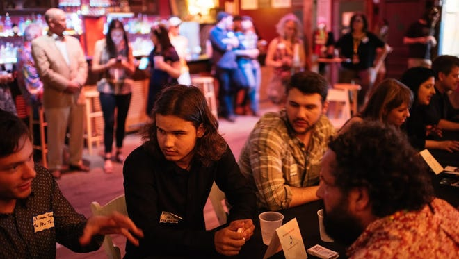 Locals musicians meet with agents and buyers at Festival International's Louisiana International Music Exchange.