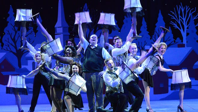 """David Johnson, as the Old Man, celebrates """"A Major Award"""" in Arizona Broadway Theatre's production of """"A Christmas Story: The Musical."""""""