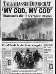 The Democrat's front page the day after Sept. 11, 2001.
