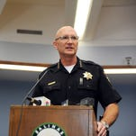 Salinas Police Chief Kelly McMillin speaks to the media about councilmember Jose Castaneda's arrest on Thursday at the Salinas Police Department.