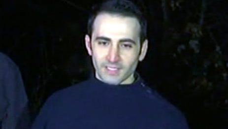 In this image made from video, former U.S Marine Amir Hekmati,