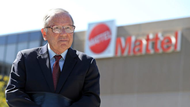 This May 18, 2017 photo shows activist investor John Chevedden outside the Southern California headquarters of Mattel in El Segundo, Calif. One of his recent actions was to push Mattel to allow shareholders to put alternative board candidates on the company's ballot, which Mattel agreed to do. If you're a shareholder in a major corporation, having your voice heard may soon become harder. Tucked into a Republican bill to defang the Dodd-Frank financial rules is a provision to make it more difficult to bring proposals to a shareholder vote. The House is to vote on the bill this week.