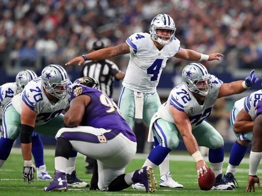 Dallas quarterback Dak Prescott (4) and the Cowboys will aim to brush off last season's 8-8 record.