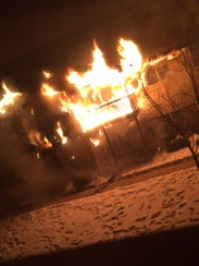 Kaytlin Jost took photos of the fire at 890 S. Oxford