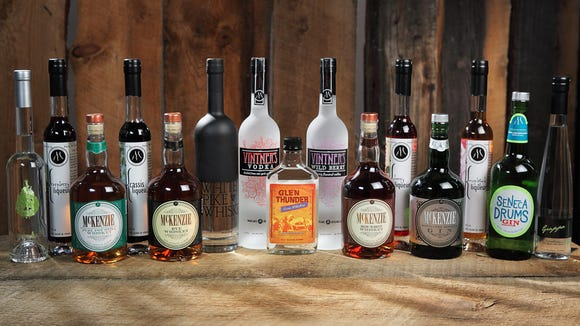 Products by Finger Lakes Distilling.