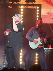 Luke Combs performs on Saturday, May 12, 2018 at Wells Fargo Arena.