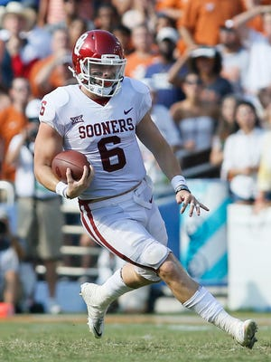 klahoma Sooners quarterback Baker Mayfield.